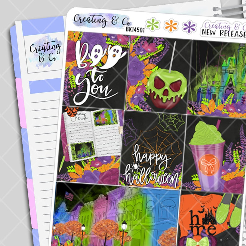 Not So Scary  Halloween Planner Stickers Kit Weekly Kit image 0