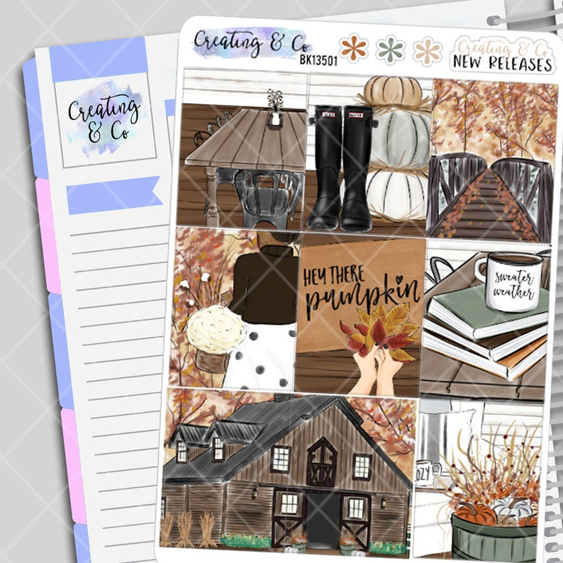 Sweater Weather  Autumn Planner Stickers Kit image 0
