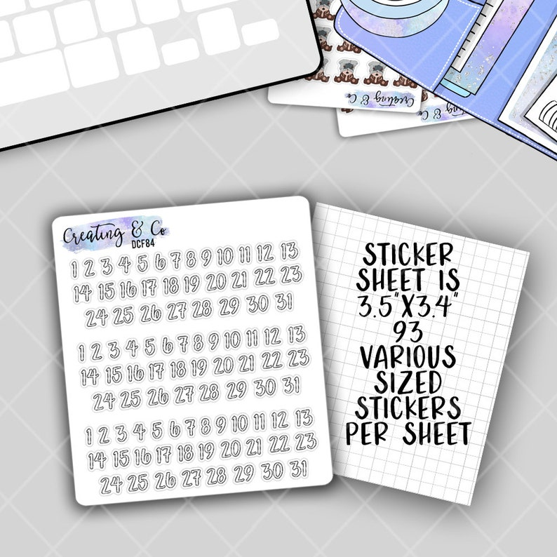 Date Icons Functional Stickers image 0