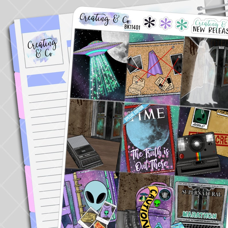 Truth is Out There  Weekly Planner Kit image 0