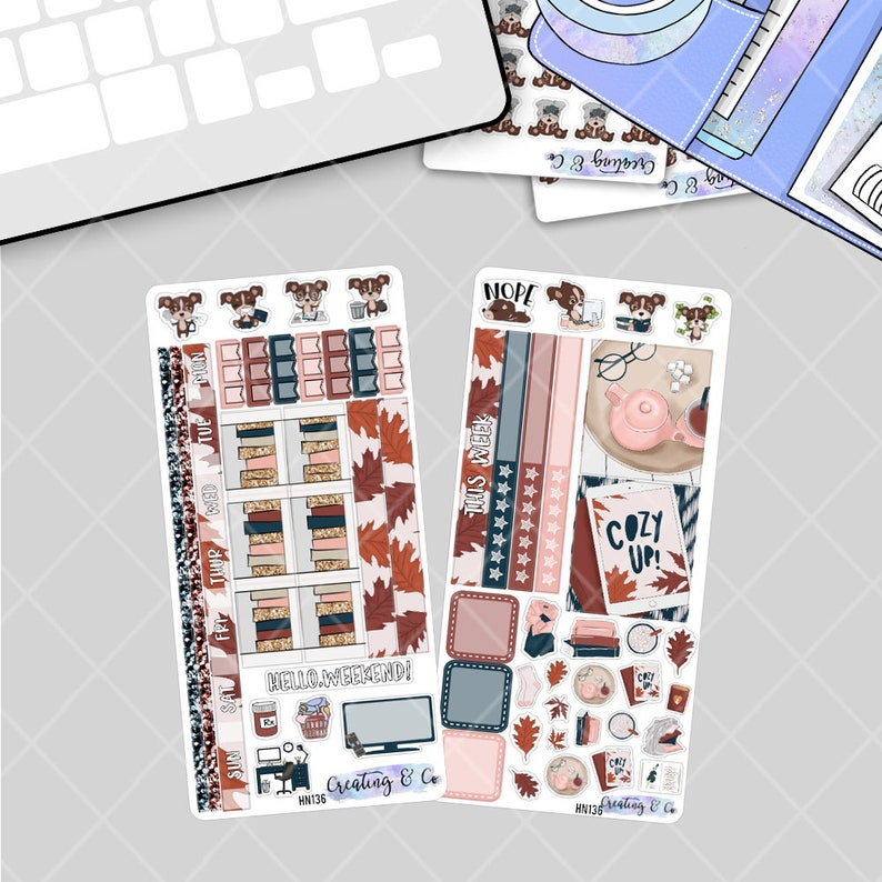 Cozy Reads  HOBONICHI WEEKS Planner Stickers Kit image 0