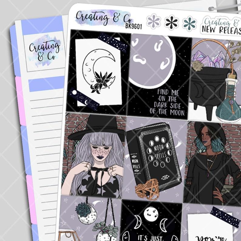 Dark Side of the Moon  Halloween Planner Stickers Kit Weekly image 0