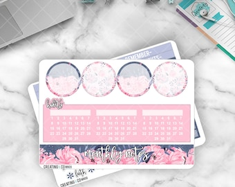 August Monthly Note Pages Sticker Set for Larger Size Planners - MN08