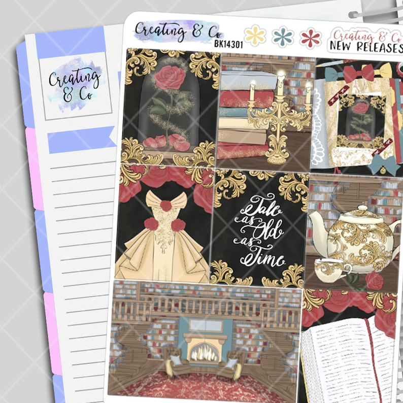 As Old As Time  Weekly Planner Stickers Kit image 0