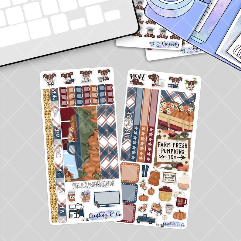 Pumpkin Patch  HOBONICHI WEEKS Planner Stickers Kit image 0