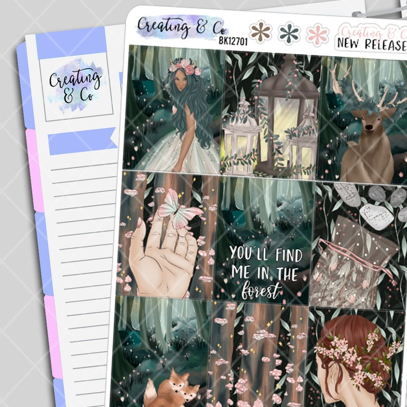 Forest Nymph  Weekly Planner Stickers Kit image 0