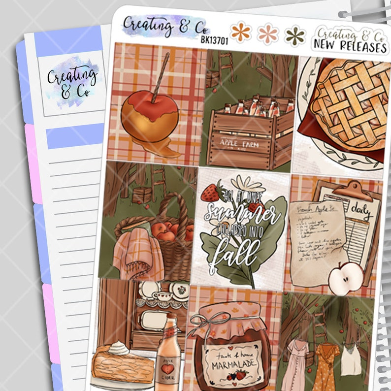Apple Picking  Weekly Planner Stickers Kit image 0