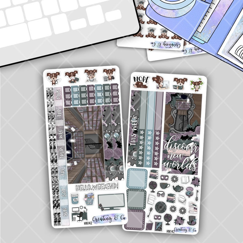 Discover New Worlds  HOBONICHI WEEKS Planner Stickers Kit image 0