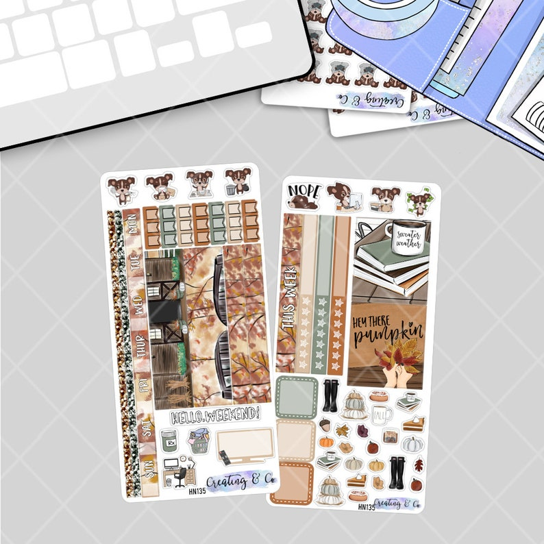 Sweater Weather  HOBONICHI WEEKS Planner Stickers Kit image 0