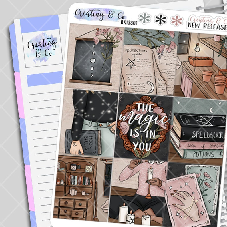 Witch's Brew  Weekly Planner Stickers Kit image 0