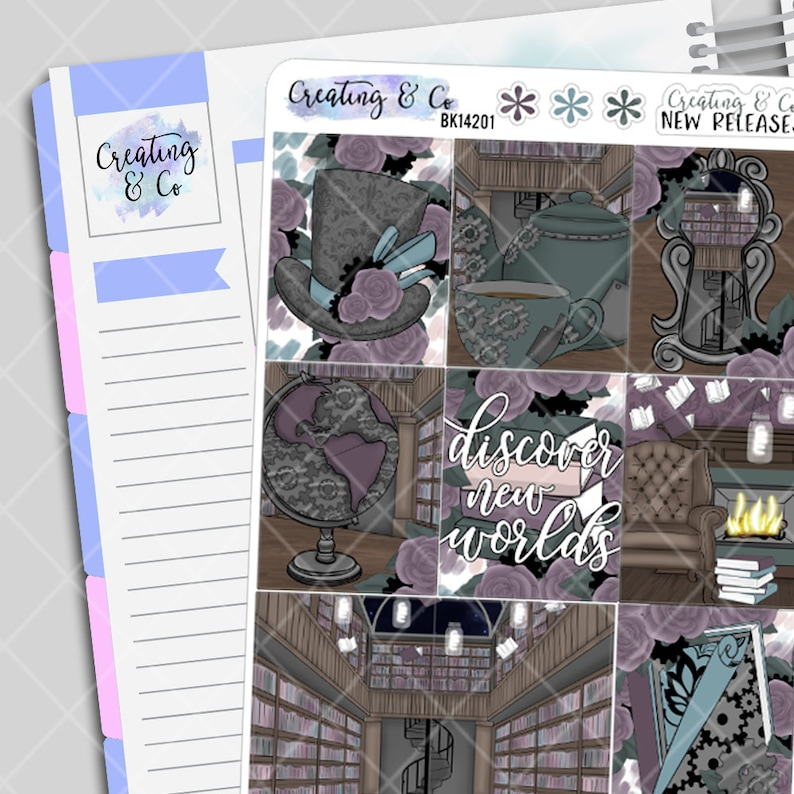 Discover New Worlds  Weekly Planner Stickers Kit image 0