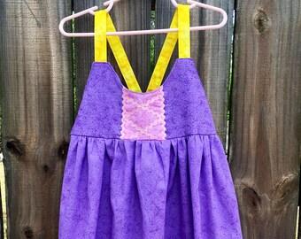 Rapunzel Dress Tangled Princess Dress Up Rapunzel Birthday Dress Rapunzel Princess Dress Custom Rapunzel Dress Girls Princess Tangled Dress
