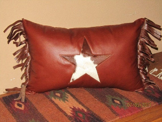 leather western style throw pillows etsy rh etsy com