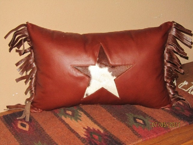Leather Western Style Throw Pillows Etsy Adorable Western Style Decorative Pillows