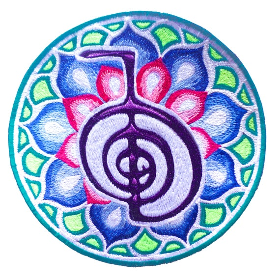Cho Ku Rei Reiki Mandala Patch 75 Inch Sacred Healing Etsy
