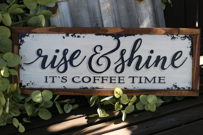 kitchen coffee decor-coffee signs-kitchen coffee wall | etsy