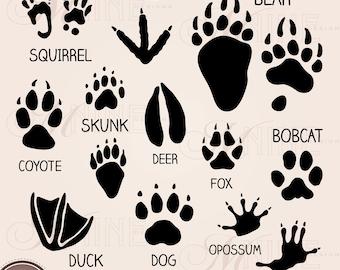 Animal Footprints Etsy