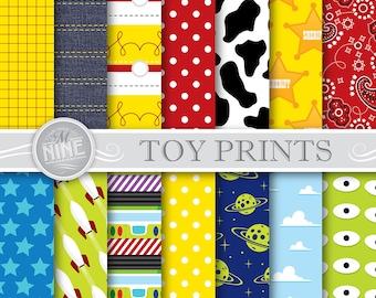 TOY STORY Digital Paper Jpg Svg | Toy Story Pattern Downloads | Instant Download Jpeg Vector Svg Digital Paper Printables MN28