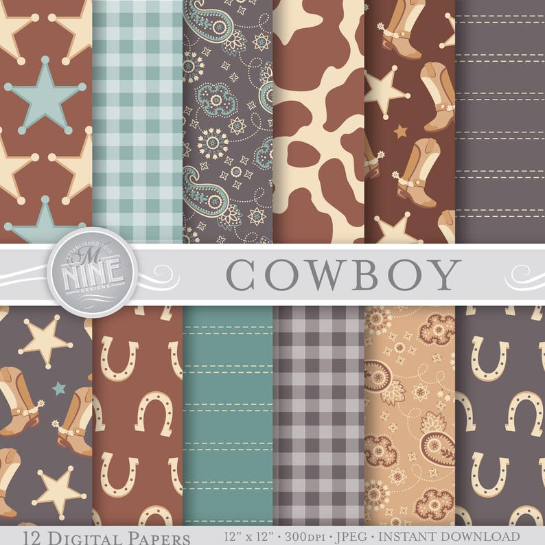 graphic about Printable Patterns identified as Cowboy Electronic Paper: Traditional COWBOY Printable Behavior Print, Cowboy Obtain, 12x12 Cowboy Routines Cowboy Sbook