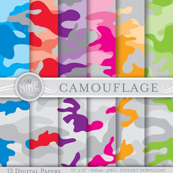 graphic relating to Digital Camo Stencil Printable referred to as Camouflage Electronic Paper: Gray NEON CAMOUFLAGE Printable Behavior Prints, Camouflage Obtain, 12 x 12 Camo Behaviors Sbook Print