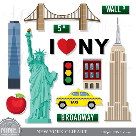 NEW YORK Clip Art / New York Theme Clipart Download / New ...