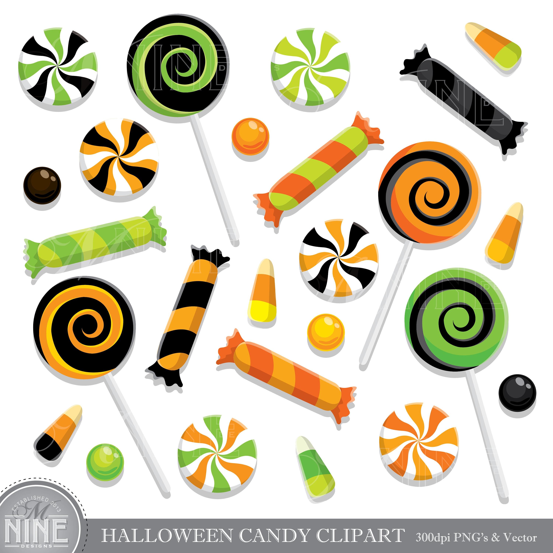 HALLOWEEN CANDY Clip Art / Halloween CANDY Clipart ...