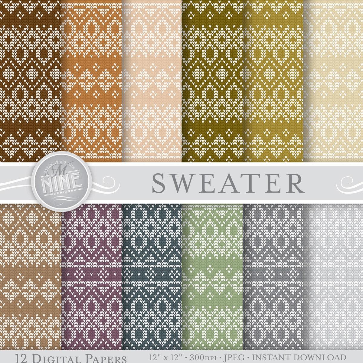 c370e0767e222c Neutral knit sweater prints digital paper pattern prints etsy jpg 1200x1200 Fair  isle prints