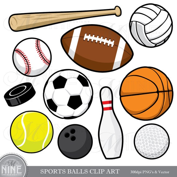 sports balls clip art sports balls clipart downloads sports rh etsystudio com Printable Scrapbook Clip Art Photo Album Clip Art