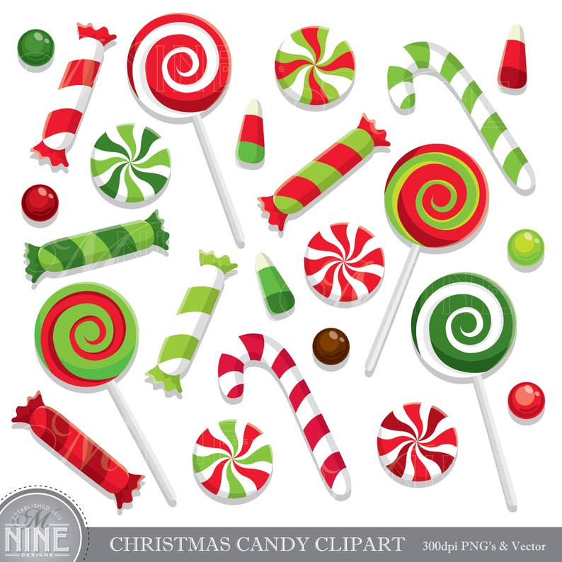 Christmas Candy.Christmas Candy Clip Art Holiday Candy Clipart Downloads Candy Theme Party Candy Scrapbook Clipart Vector Candy Clipart Download