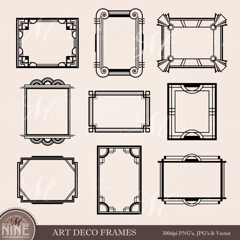 ART-DECO-Rahmen-Clip-Art: Art-Deco-Clipart Rahmen Design | Etsy