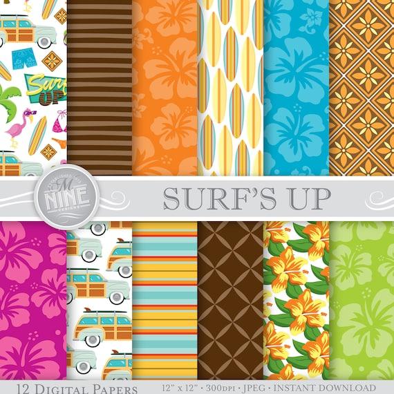 Sommer Strand digitales Papier / SURF-Muster / Strand Thema | Etsy