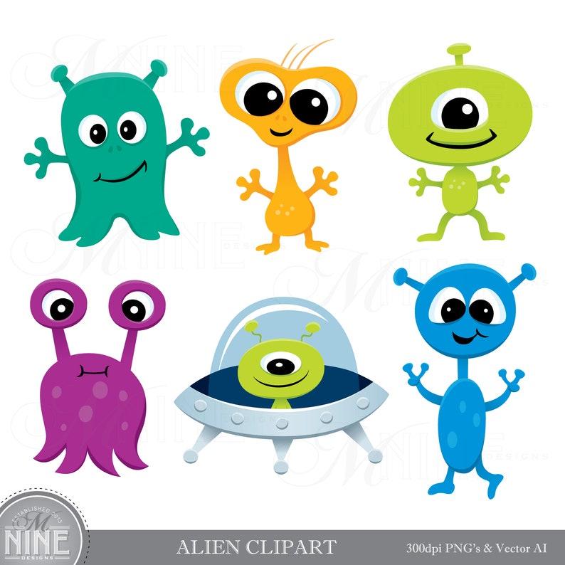 ALIEN Clip Art Aliens Clipart Downloads Space Alien Party ...