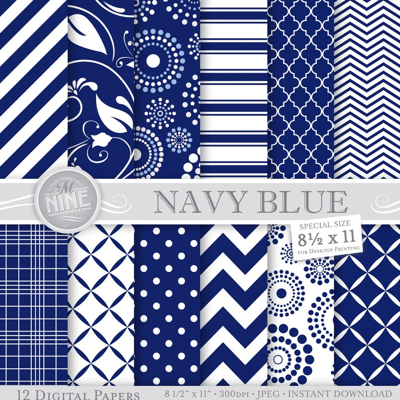 photograph about Printable Patterns identified as Military BLUE Electronic Paper: Armed service Blue Printable Behavior Print, Army Blue Down load, 8 1/2 x 11 Military services Blue Habits History Armed forces Blue Sbook