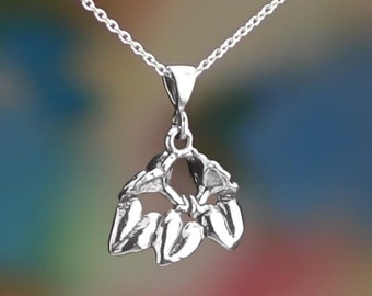 """Sterling Silver Morning Glory Necklace 16-24"""" or Pendant Only .925"""
