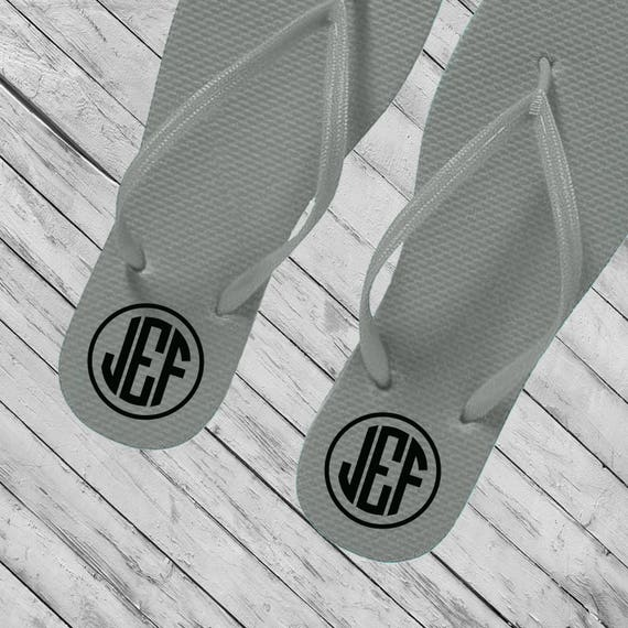 bf2253edfdc8f5 Monogram Decals Flip Flop Decals Bride Flip Flops Decals