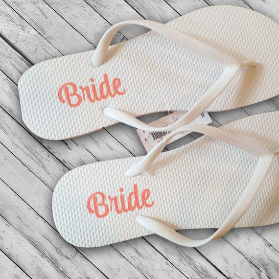 2d814f9fb739a4 Flip Flop DECALS ONLY Bridal Party Decals Bridesmaid Flip