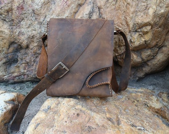 leather messenger bag,mens ,custom, laptop bag, tool bag,Crazy horse leather ,  waxed thread, handmade