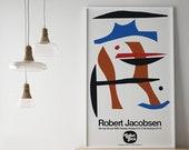1982 ROBERT JACOBSEN Poster Print Danish Scandinavian Henri Matisse Nice Mid Century Modern Arne Helen Frankenthaler Jean Arp Memphis Design