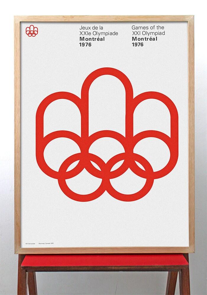Montreal 1976 Olympia Plakat Druck Mid Century Modern
