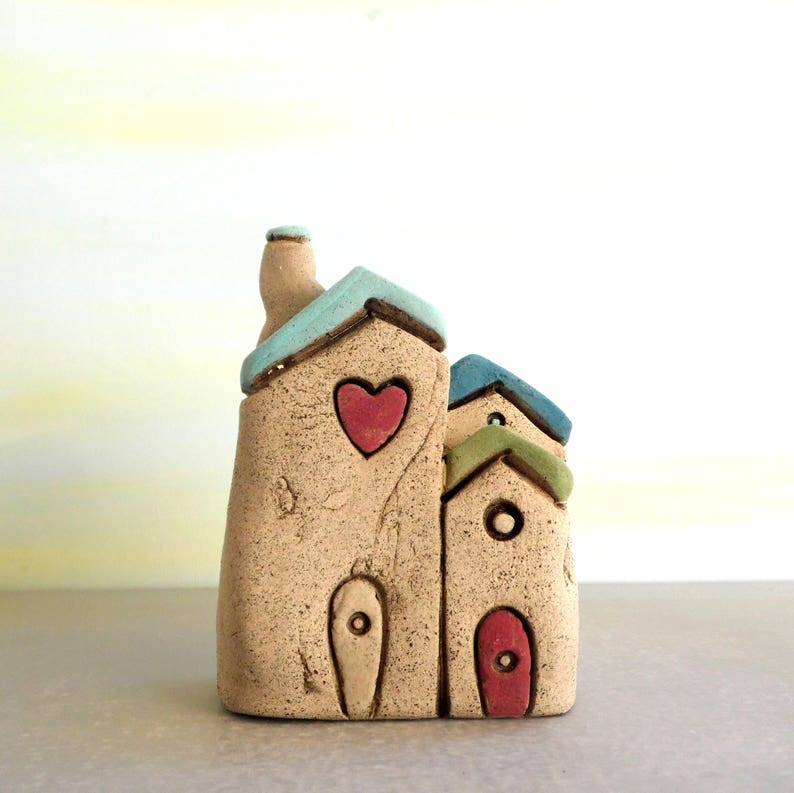 Little House Home Sweet Home Sculpture Grey House Hand Etsy