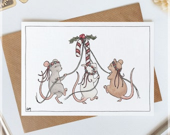 Christmas Cards ~ Original Greeting Cards with Watercolour & Ink Illustrations