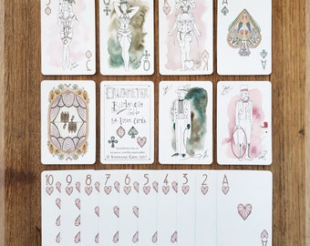 Burlesque Playing Cards ~ Hand Illustrated Playing Cards featuring Burlesque Dancers