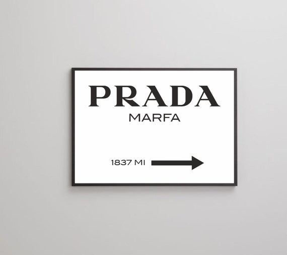 47d832068c5fd Prada Marfa poster print on paper or canvas up to A0 size, Fashion Wall  Art, Fashion logo print