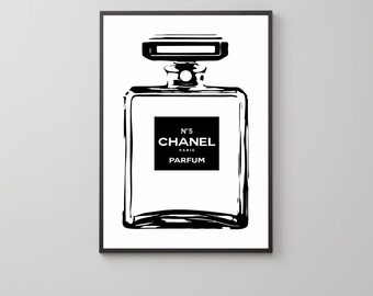 Chanel No 5 perfume bottle poster print on paper or canvas up to A0 size