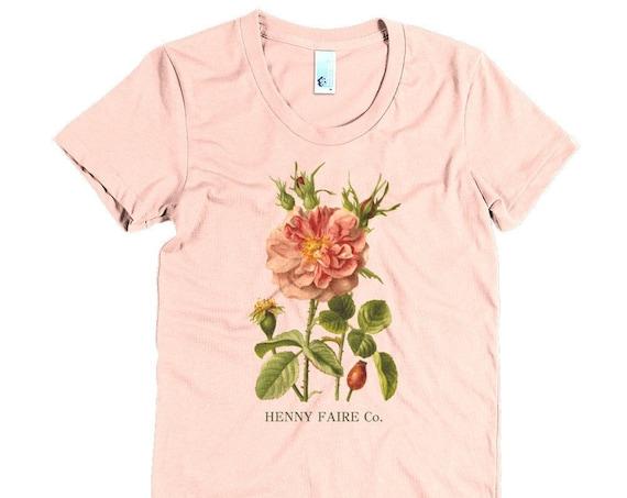 HF Vintage Rose Ultra Soft Women's Scoop Neck Tee