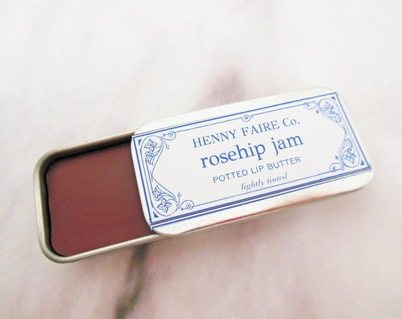 rosehip jam potted lip butter | lightly tinted