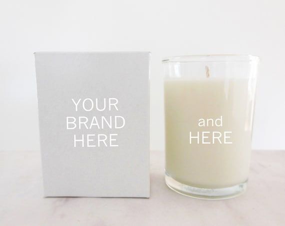 48 bulk candles for private label   Add your logo and customize unlabeled, unbranded candles