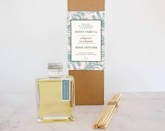 saltgrass eucalyptus reed diffuser   minimalist room diffuser with spa ocean fragrance   5 oz bottle + 10 reeds