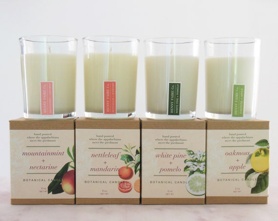 fruits of the forest candle set | sampler set of 4 fruity scented candles