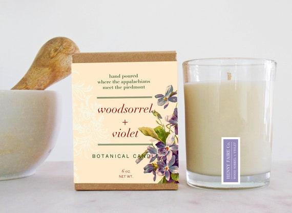 woodsorrel + violet botanical candle || limited edition scent